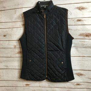 Peck & Peck Navy Quilted Vest